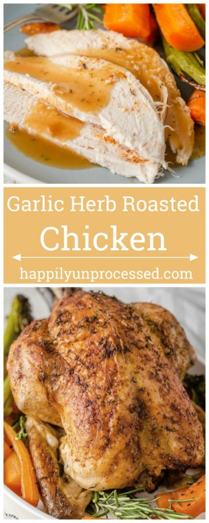 GARLIC HERB ROASTED CHICKEN PIN.jpg 411x1024 - How To Cook a Perfect Garlic Herb Roasted Chicken