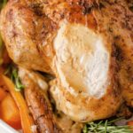 garlic herb roasted chicken close up 150x150 - Slow Cooker Stuffing with Sausage, Cranberry & Pecans
