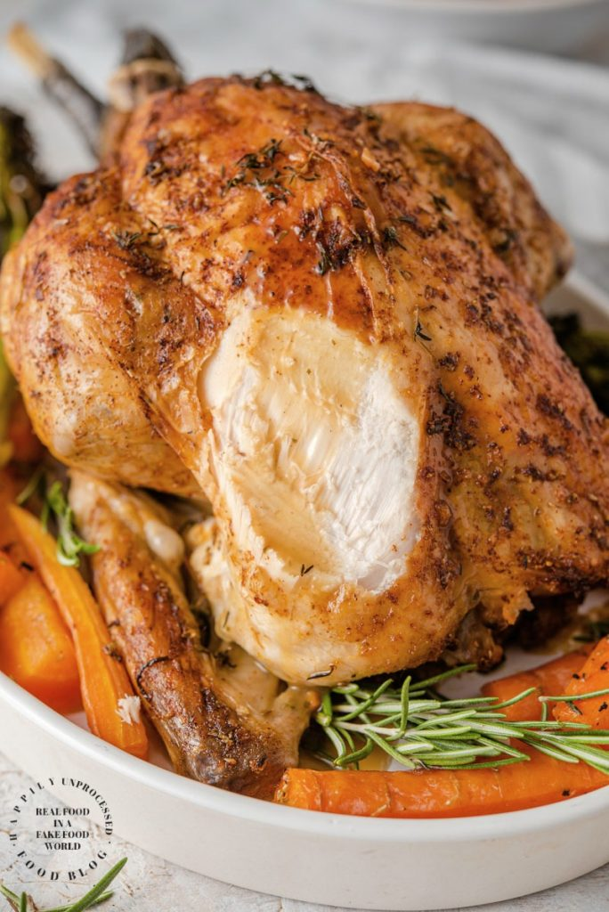 oven roasted chicken 3 684x1024 - How To Cook a Perfect Garlic Herb Roasted Chicken