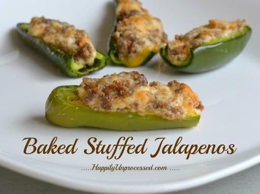 Baked Stuffed Jalapenos