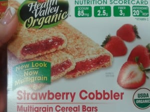 Understanding Labels ~ Health Valley Cereal Bars