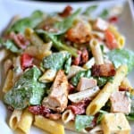 Smoked Mozzerella, Chicken, Spinach and Penne Salad