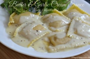 butter garlic cream sauce1 300x199 - The Best Garlic Roasted Hummus