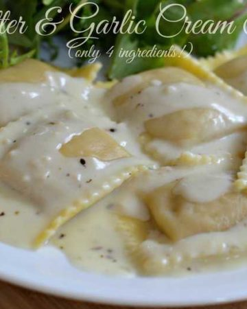 butter garlic cream sauce1 360x450 - Butter & Garlic Cream Sauce