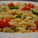 Lemon Orzo with Asparagus and Cherry Tomatoes