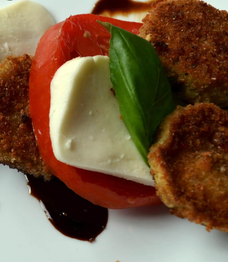 059editededited - Caprese Salad with Fried Eggplant
