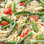 lemon orzo with asparagus tomatoes 150x150 - Roasted Asparagus with Garlic and Mozzarella