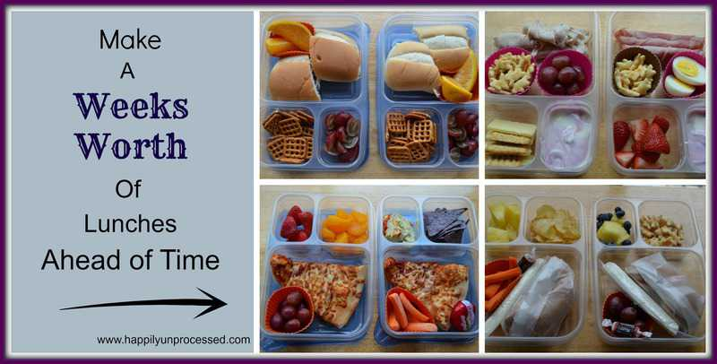 Make ahead school lunches a weeks worth happily unprocessed a weeks worth forumfinder Gallery