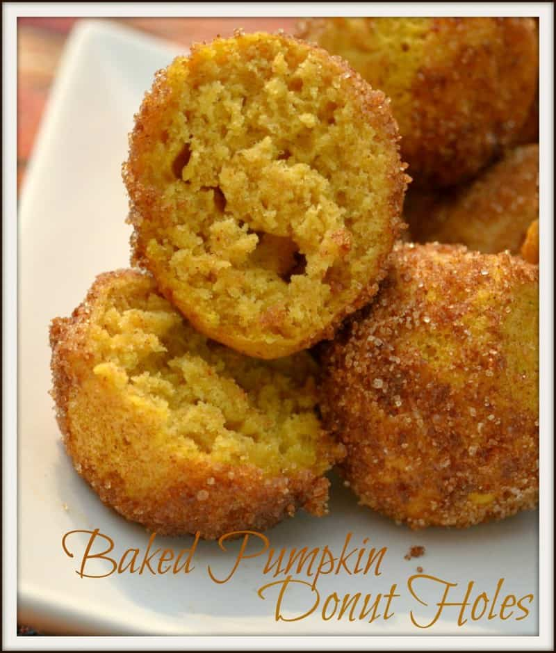Baked Pumpkin Donut Holes - Happily Unprocessed