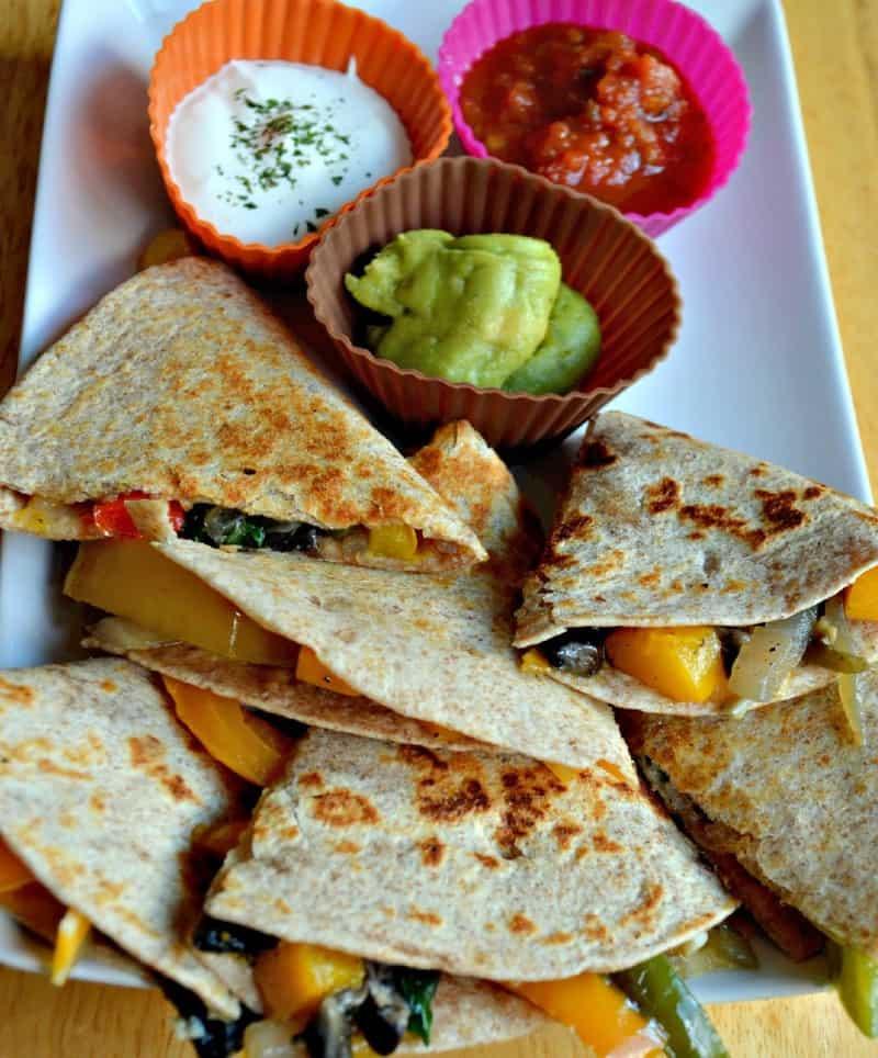 veggie quesadilla 850x1024 - Veggie Quesadillas