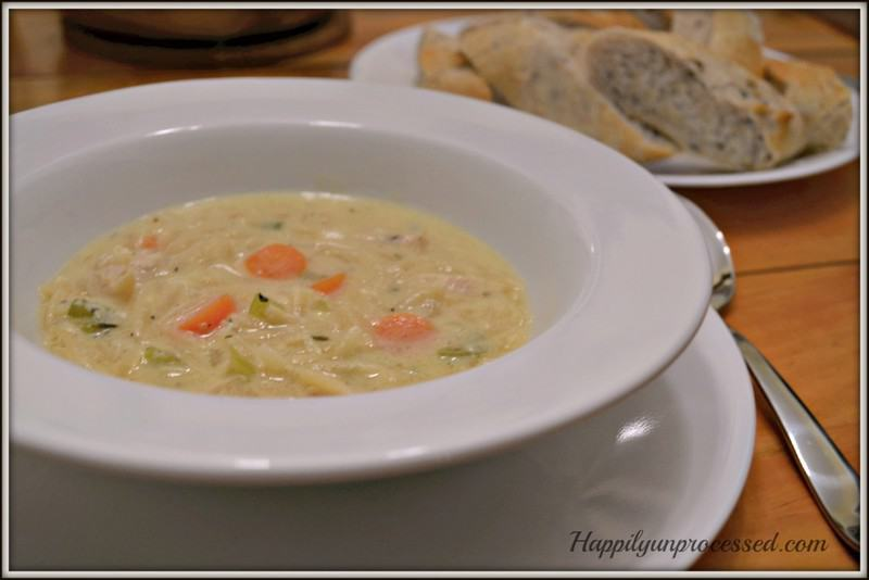 Lemon Chicken Orzo Soup - Happily Unprocessed