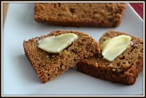 Zucchini Walnut Apple Bread