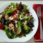 Spinach Salad with Apples, Feta and Bacon