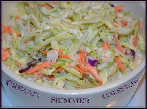 Creamy Summer Coleslaw