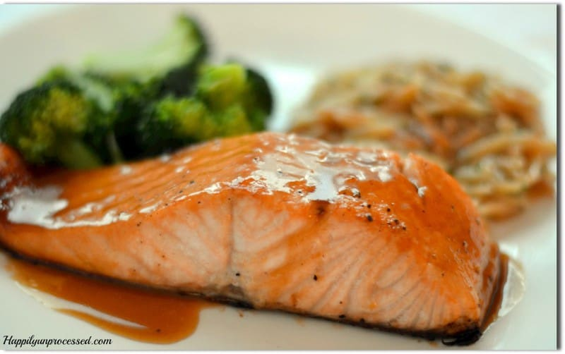 ... decided to give his Salmon with Brown Sugar and Mustard Glaze a try