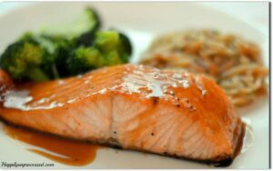 Bobby Flay's Salmon with Brown Sugar and Mustard Glaze