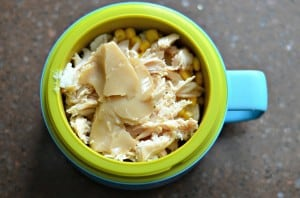 Wednesday ~ Chicken Bowl mashed potatoes, corn, chicken and gravy