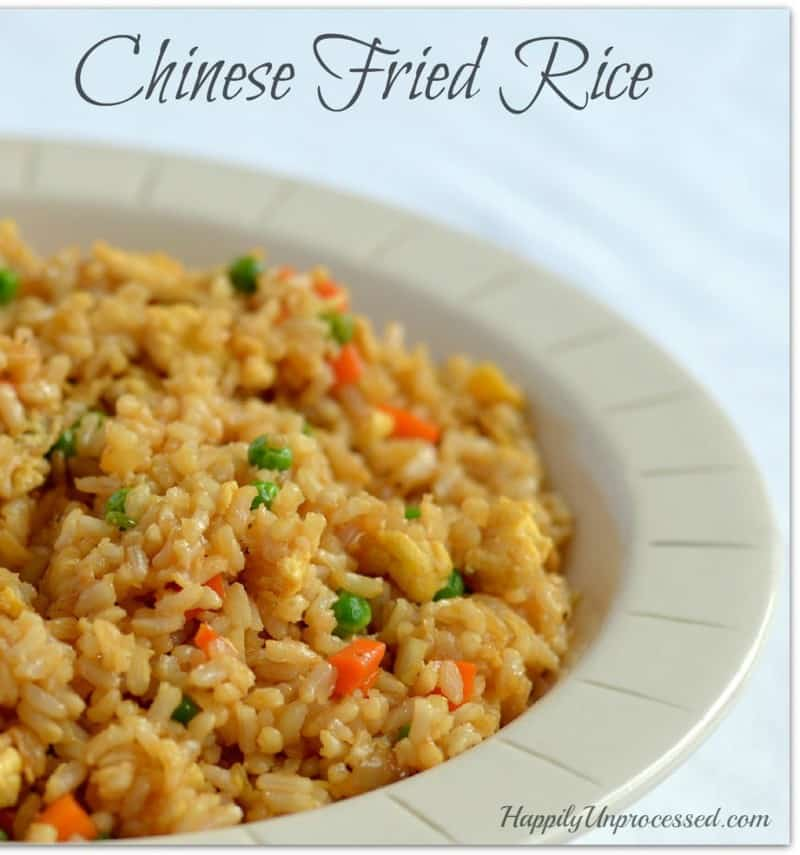 Homemade Chinese Fried Rice - Happily Unprocessed