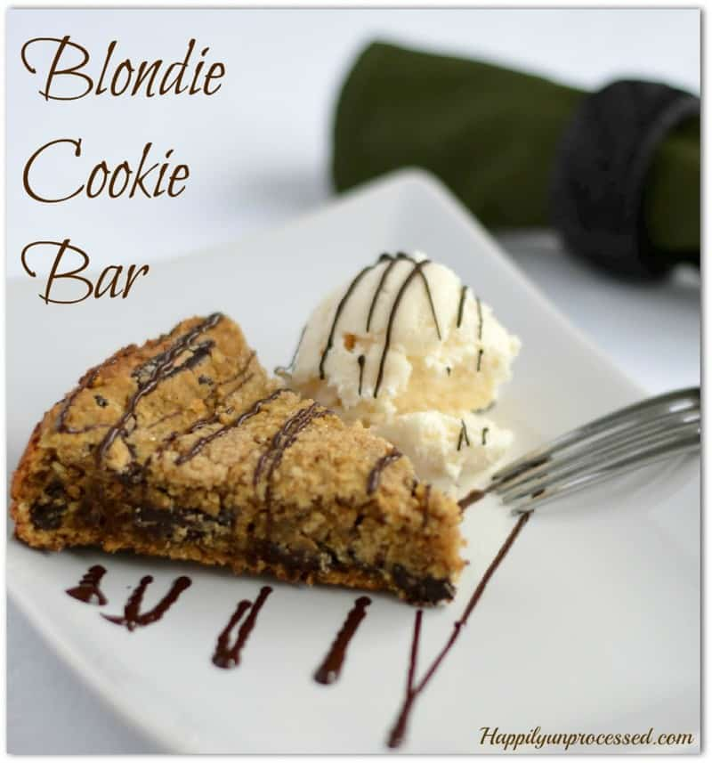 blondie cookie bar garbanzo beans