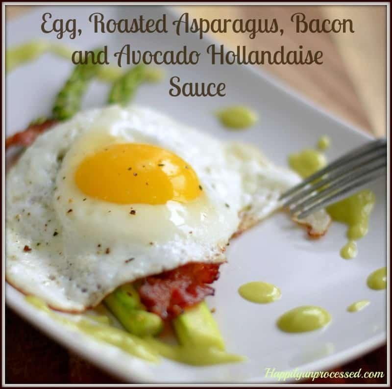 egg asparagus avocado sauce