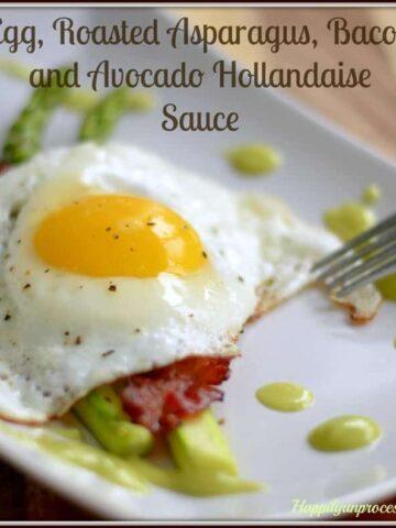 053pspic2 360x480 - Egg, Roasted Asparagus, Bacon & Avocado Hollandaise Sauce
