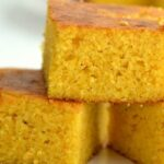 thick slices of gluten free cornbread stacked up