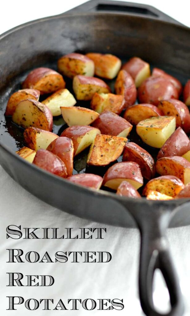 124piic1 615x1024 - Skillet Roasted Rosemary Red Potatoes