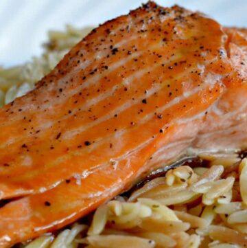 013pic1 360x361 - Maple & Brown Sugar Glazed Salmon   RECIPE