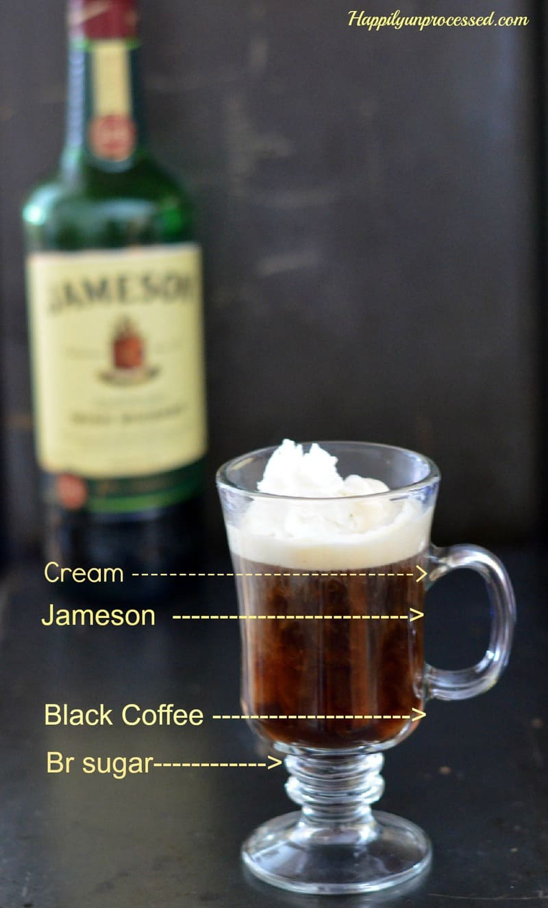 Irish Coffee With Jameson Happily Unprocessed