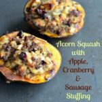 z9resize 150x150 - Stuffed Acorn Squash with Apple, Cranberry & Sausage Stuffing