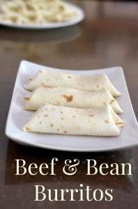Beef and Bean Burrito