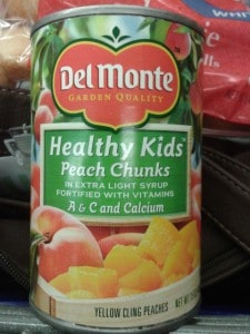 Label Confusion:  Del Monte Healthy Kids Peaches