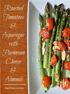 Roasted Tomatoes and Asparagus with Parmesan Cheese and Almonds