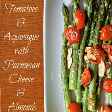 005pic2 360x361 - Roasted Tomatoes and Asparagus with Parmesan Cheese and Almonds