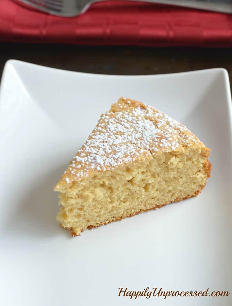 light, lemony cake made with whole organic yogurt, white whole wheat ...
