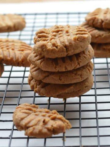 peanut butter cookies.jpg 360x480 - Flourless Peanut Butter Cookies