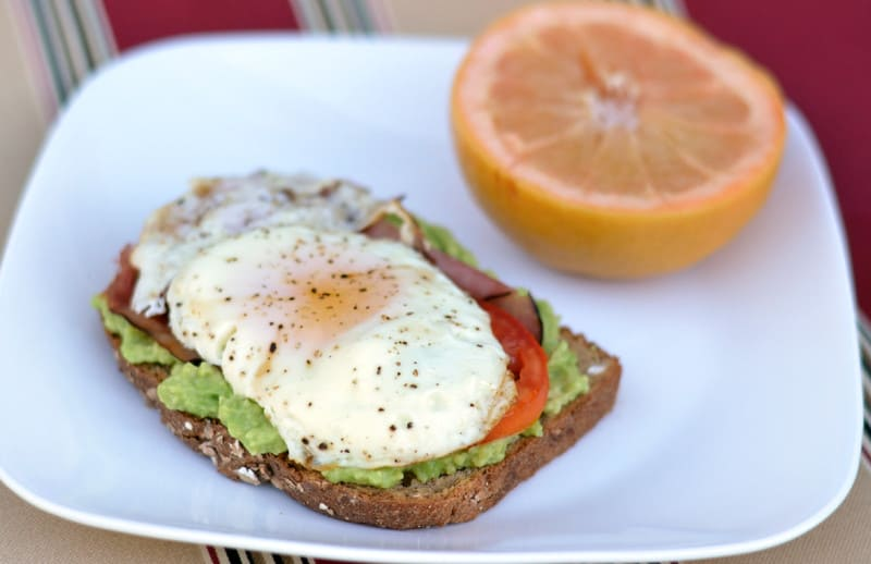 Open Faced Egg, Tomato and Avocado Sandwich - Happily Unprocessed