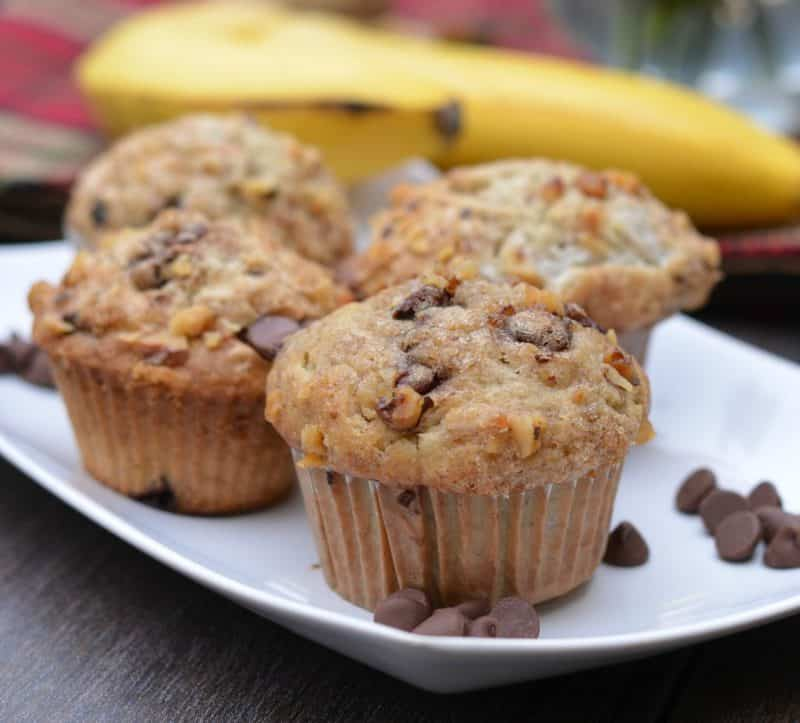 banana walnut choc chip muffin