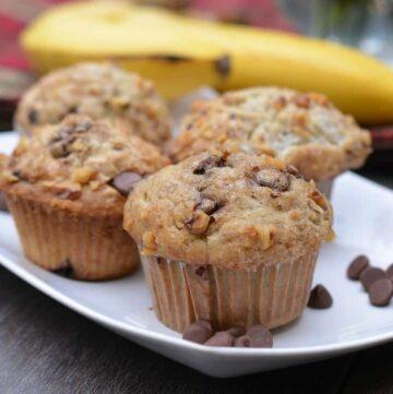 070pic 360x361 - Banana Walnut Chocolate Chip Muffins