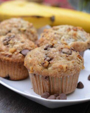 070pic 360x450 - Banana Walnut Chocolate Chip Muffins