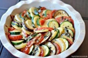 Tomato Zucchini Gratin Bake