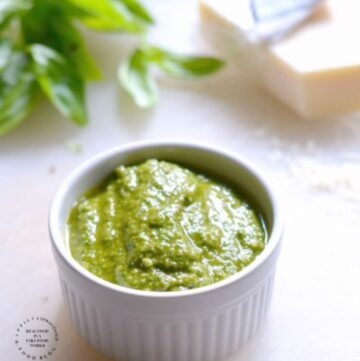 EASY BASIL PESTO SAUCE - #happilyunprocessed