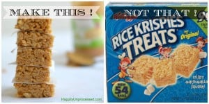 Make THIS!  Not THAT!:  Crispy Rice Treats