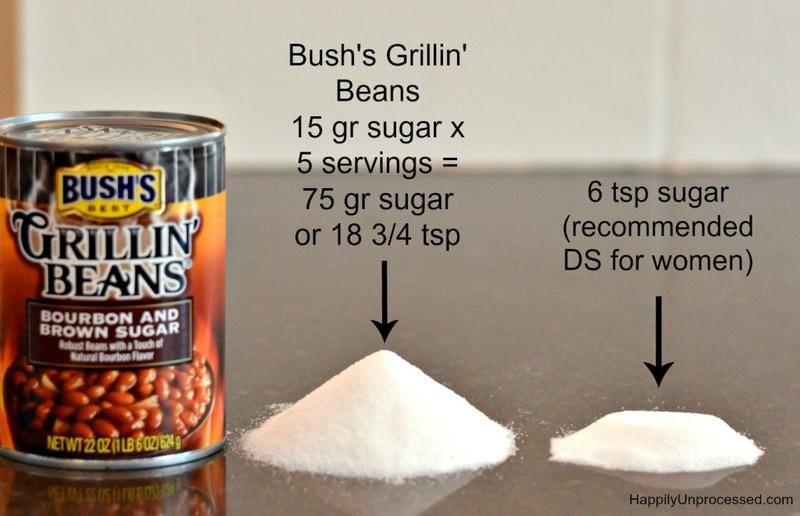 sugar experiment baked beans