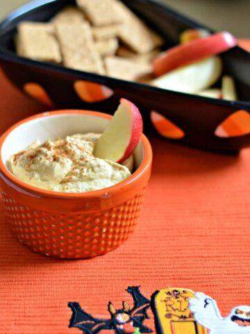 069pic 360x480 - 5 minute Pumpkin Cream Cheese Dip