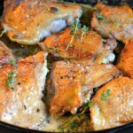 Roasted Chicken in a Wine and Butter Sauce