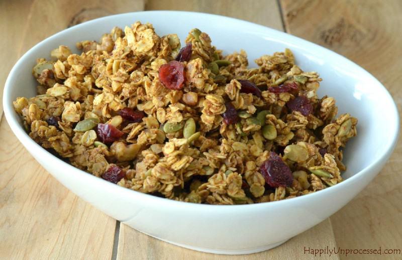 pumpkin & flax seed granola