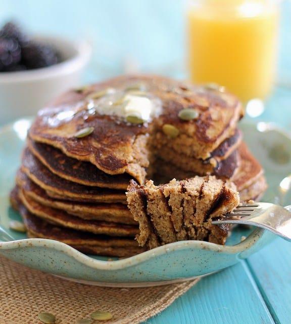 pumpkin paelo pancakes