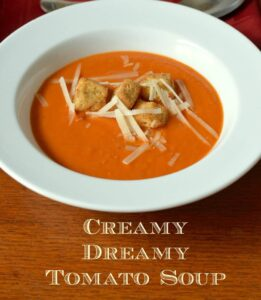 Creamy Dreamy Tomato Basil Soup
