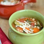 Mediterranean Spinach, Cannellini Bean and Barley Soup